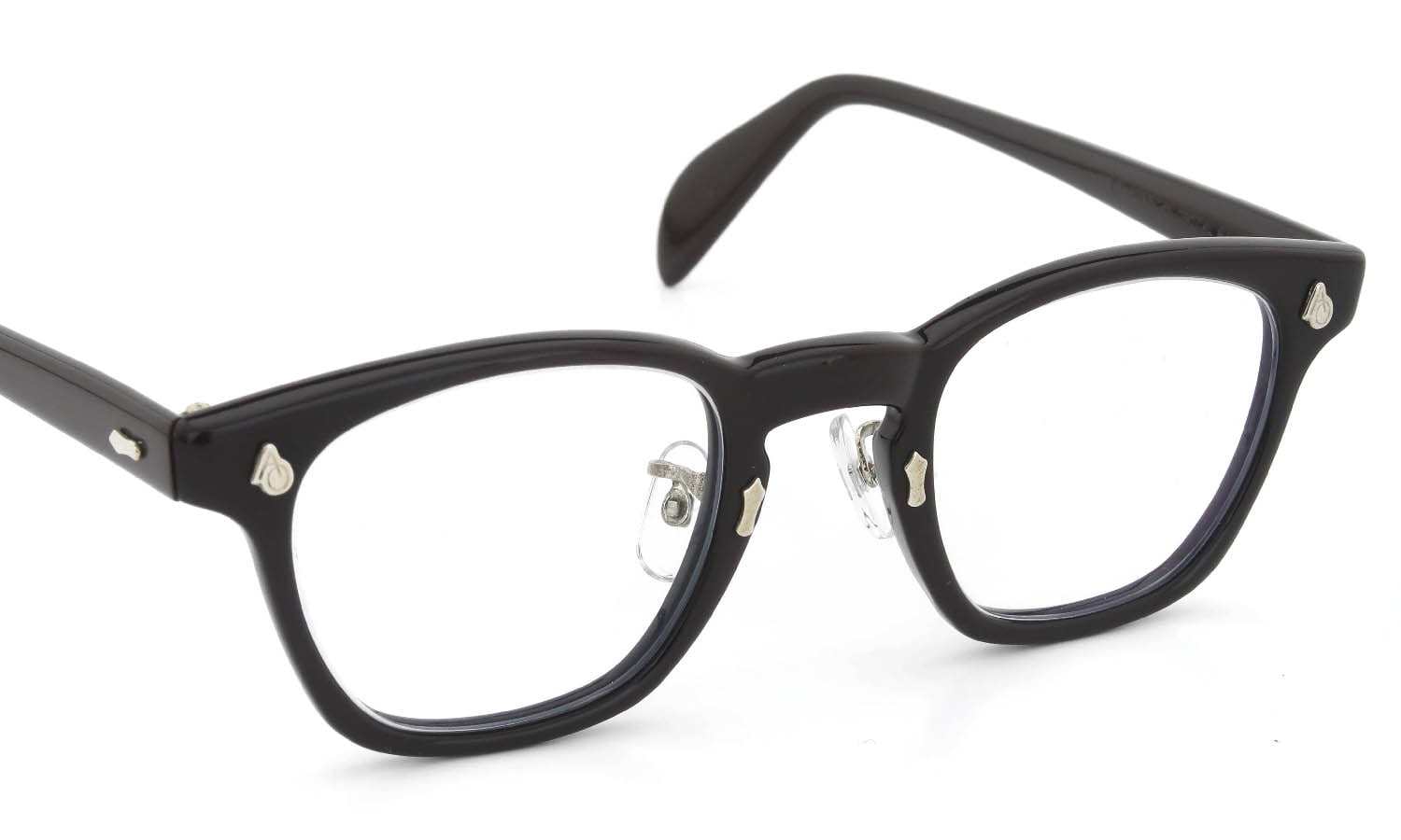 American Optical vintage 1970s-1980s AO鋲 Square Saftyglasses Chocolate 46-24 ADJUSTABLE-NOSE-PADS