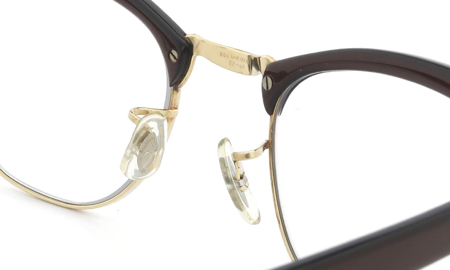 Bausch&Lomb vintage 1950s〜1960s BROW DECO 1/10 12KGF BROWN/GOLD 46-22