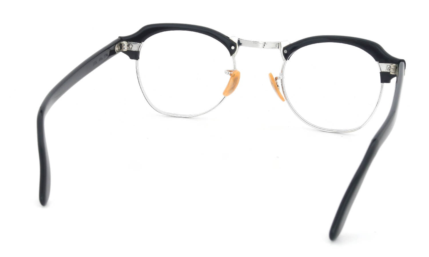 Bausch&Lomb vintage 1950s〜1960s BROW 1/10 12KGF BLACK/W.GOLD 46-22