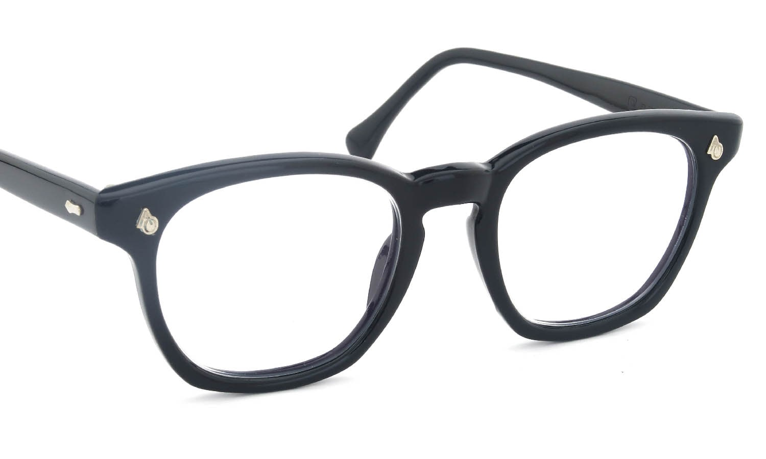 American Optical vintag Safety Glasses 1960s-1970s AO鋲 Square Black 48-20 FLEXI-FIT