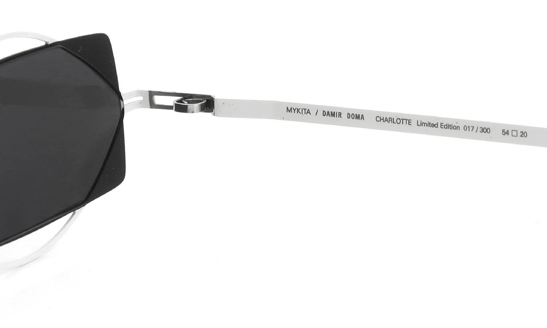 MYKITA / DAMIR DOMA Limited Edition Set CHARLOTTE Antique-White/Black Lens. Dark-Grey-Solid
