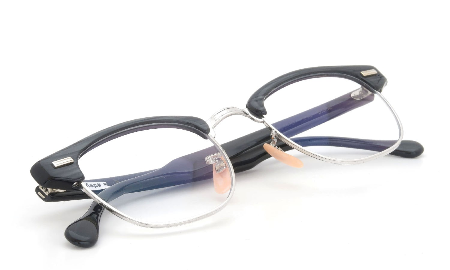 US Optical vintage 1950s〜1960s A600 Combination Black-Stone/White-Gold 1-10 12KGF 46-20 #222586
