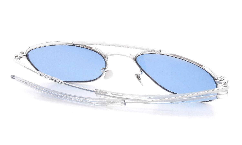 American Optical vintage 1950s Mid-Century-Modern-Pilot White-Gold Light-Blue-Lens 12kPads #103492