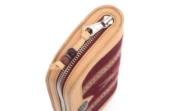 JACQUESMARIEMAGE チマヨ織りとレザーを用いたハンドメイドのアイウェアケース(チマヨウォレット)