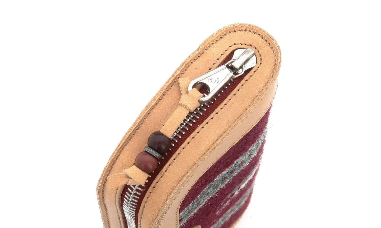 JACQUESMARIEMAGE SANTA FE SHADE JMMSF-4M 2/50 チマヨ織りとレザーを用いたハンドメイドのアイウェアケース(チマヨウォレット)