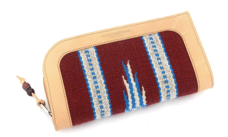 JACQUESMARIEMAGE SANTA FE NOIR JMMSF-01 38/200 チマヨ織りとレザーを用いたハンドメイドのアイウェアケース(チマヨウォレット)