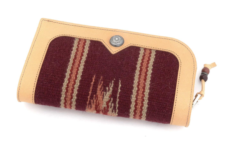 JACQUESMARIEMAGE LARAMIE NOIR JMMLR-01 88/200 チマヨ織りとレザーを用いたハンドメイドのアイウェアケース(チマヨウォレット)