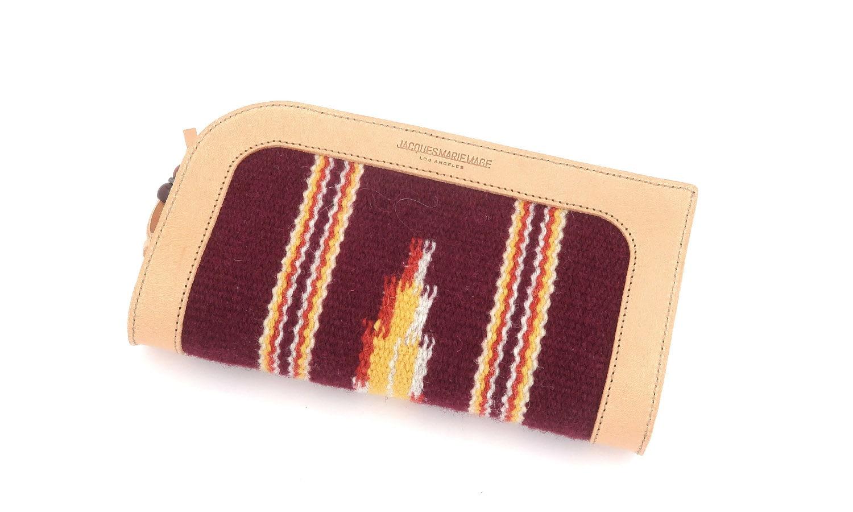 JACQUESMARIEMAGE RED CLOUD NOIR JMMRC-01 89/200 チマヨ織りとレザーを用いたハンドメイドのアイウェアケース(チマヨウォレット)